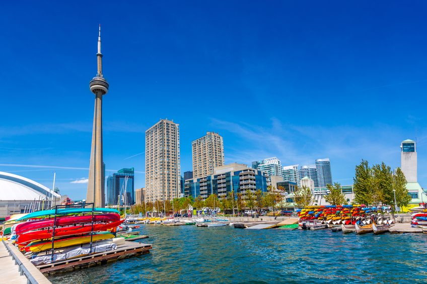 Toronto Harbour Front in Summer Canada