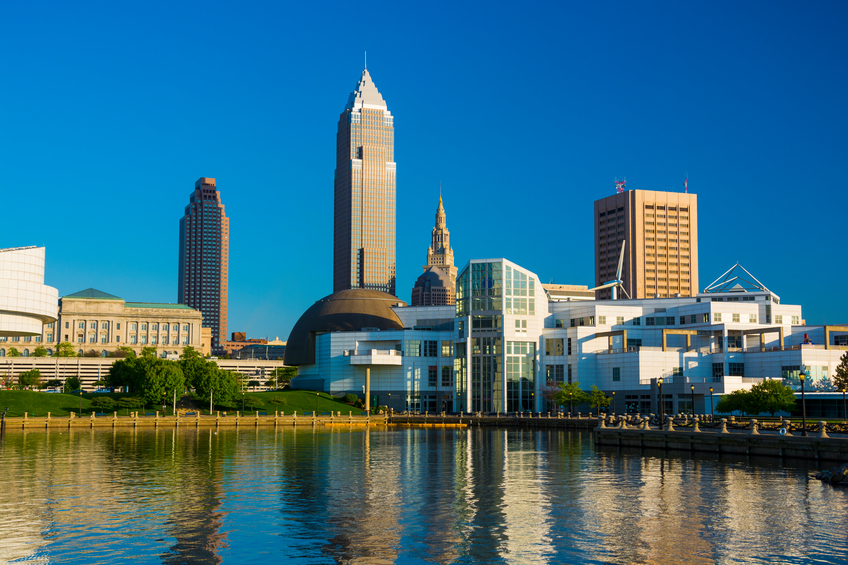 Cleveland skyline and waterfront