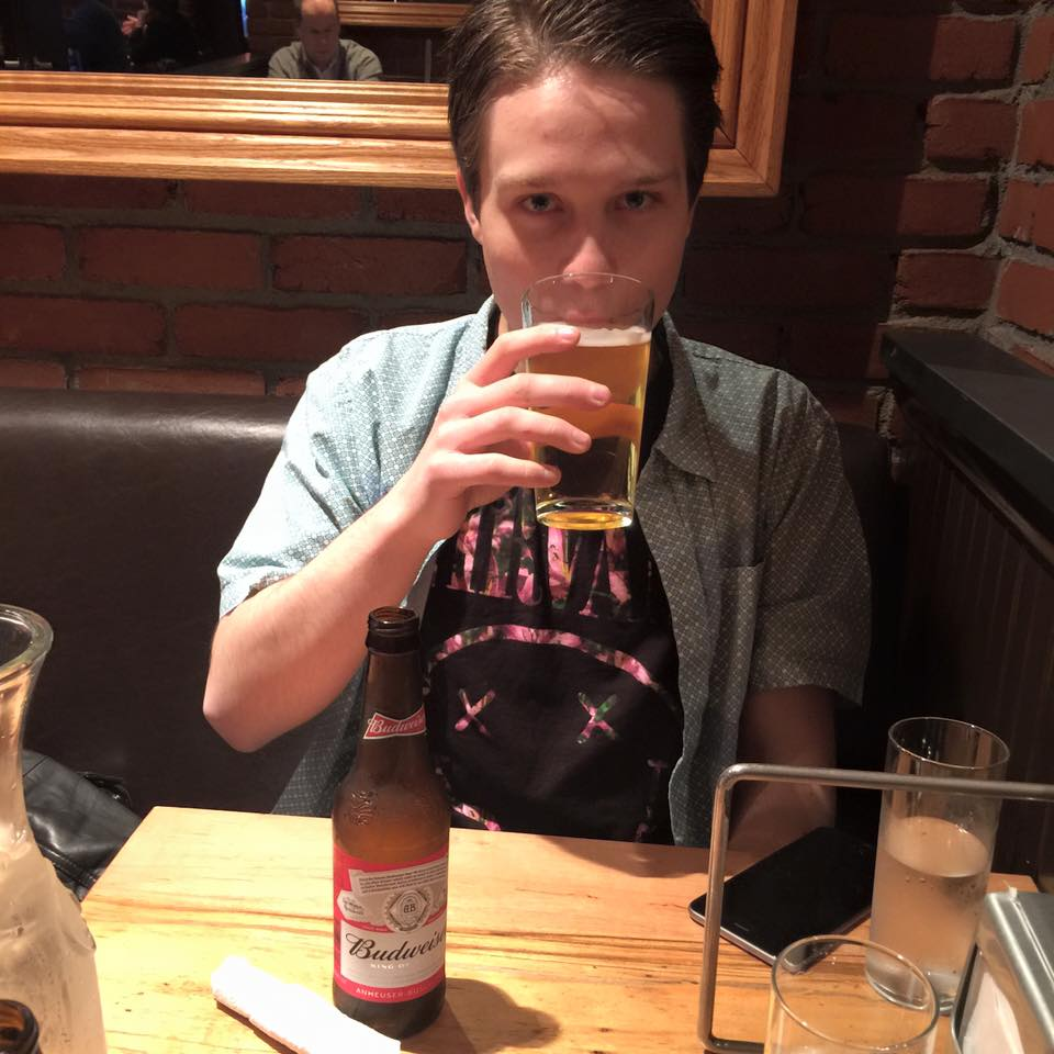Myself enjoying a glass of beer at Vezzo's in New York City, March 2016