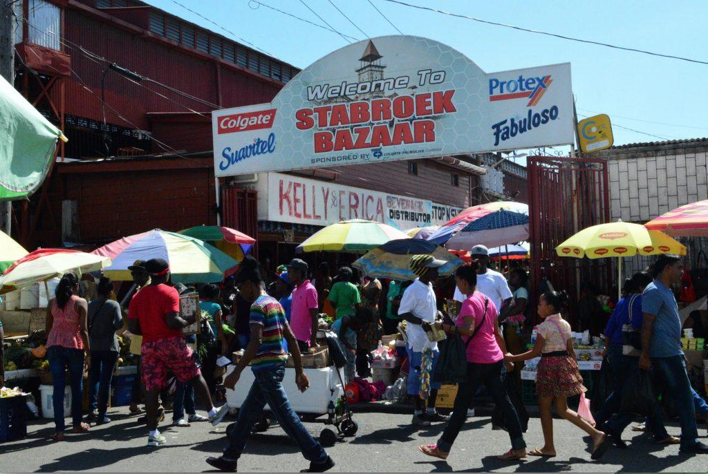 Starbroek Market downtown Georgetown.