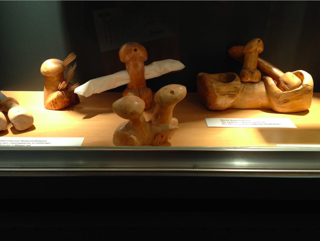 Hjartarson's own hand carved wooden wangs.