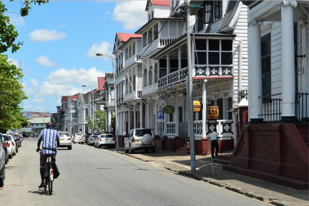 The streets of Paramaribo.