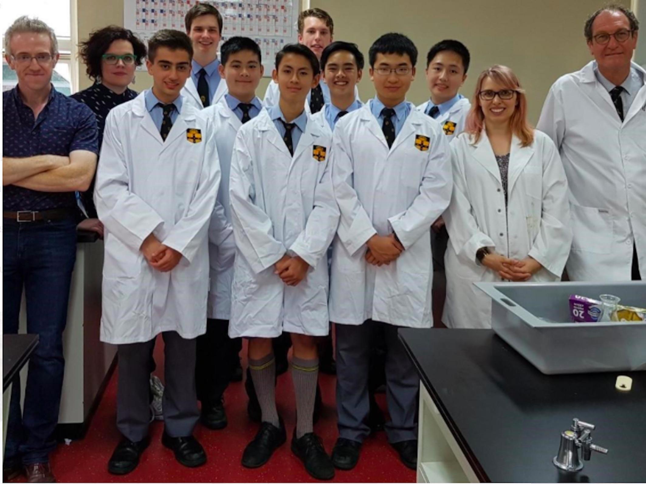 Students from Sydney Grammar. Photo via University of Sydney.