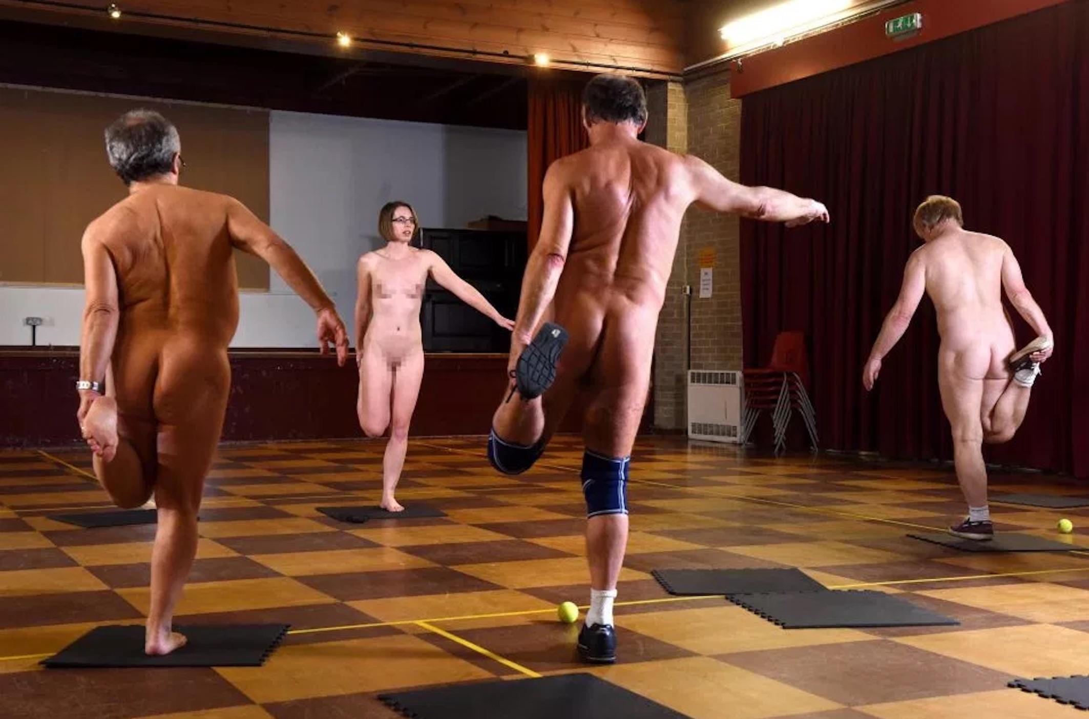 naked aerobics