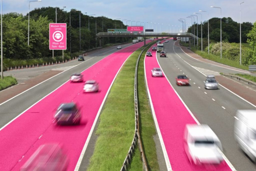 separate driving lanes for female drivers