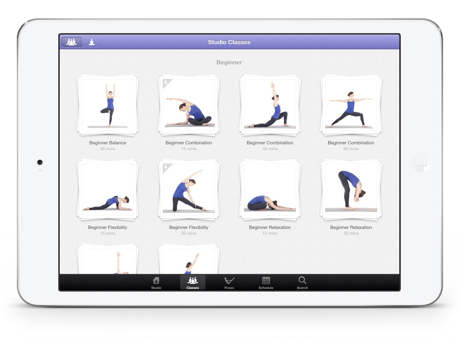 Yoga app-Studio-For-iPad